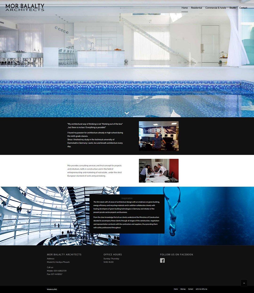 עיצוב אתר מור בללטי אדריכלים
