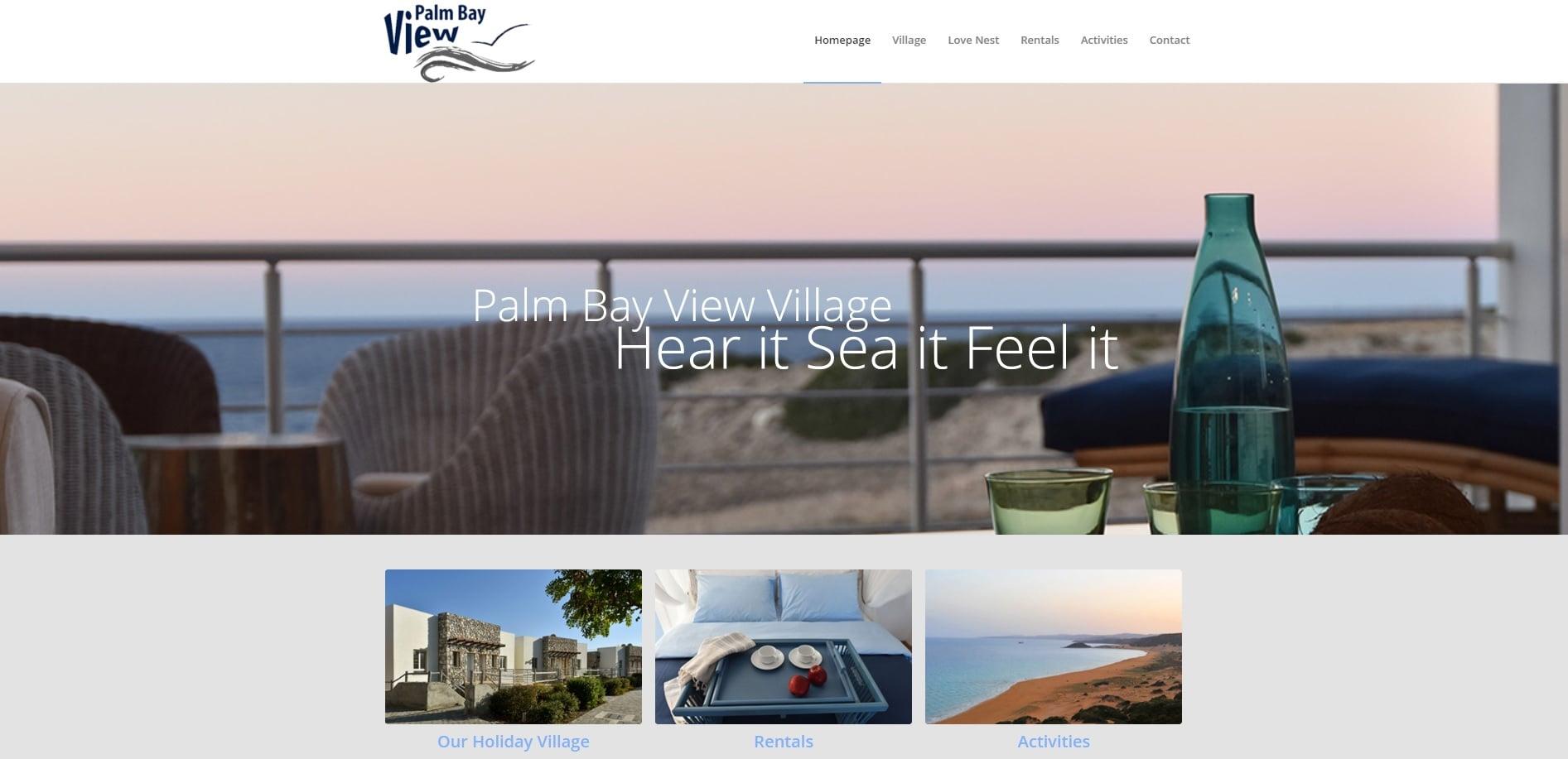 בניית אתר Palm Bay View