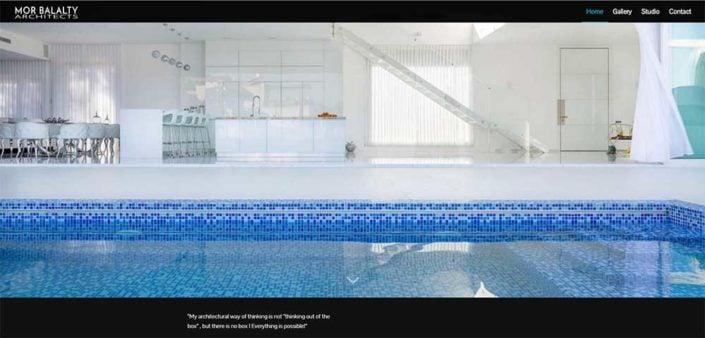 מור בללטי אדריכלים - צילום מסך